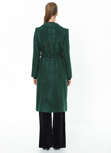 Dewberry Yün Palto Yeşil